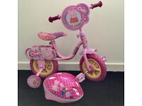 BRAND NEW PEPPA PIG BIKE & HELMET