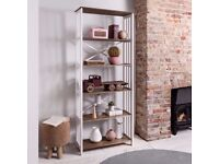 Bookshelf Tall Bookshelves Shelving Unit in White & Dark Pine Canterbury (NEW in original box)