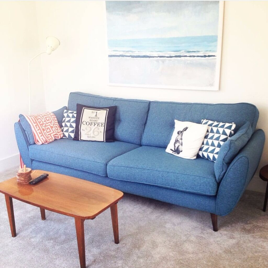 uk living room furniture 4 seater connection sofa in teal in horsham west 17902