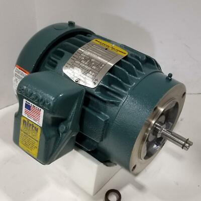 Baldor 2 Hp 3600 Rpm Tefc 208230460 Volts 56c Footless 3 Phase Motor Vm8016