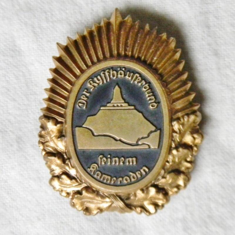 GERMANY post-WW1 Reichskriegerbund seinem Kameraden veterans org-n badge 1st Cl.