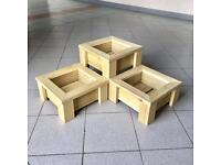 Solid Wood Planters - Various Sizes