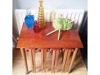 Retro Table & 4 Foldaway Stools