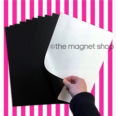 10 A4 Adhesive Strong Magnetic Sheets 0.85mm Thick - For Car Signs Die Storage