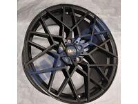 V58* 4X NEW ALLOY WHEELS 20 INCH ALLOYS BLACK VW VOLKSWAGEN TIGUAN PASSAT SCIROCCO 5X112 T ROC