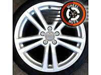 """18"""" Genuine Audi A3 S Line alloys perfect cond excel Firestone tyres."""