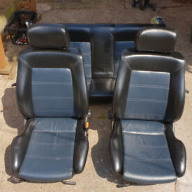MK2 Volkswagen Golf Leather Front Seats and Rear Bench