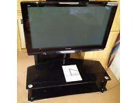 """Panasonic Viera 42"""" Plasma TV with glass stand"""
