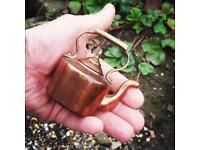 Vintage miniature salesman's copper kettle