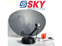 SKY DISH FITTING / INSTALLATION SATELLITE ALIGNMENT TV MOUNT ON WALL TV AERIAL REPAIRS FROM £15