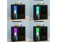 *BRAND NEW* LED Sideboard Cabinet 2 Glass Shelves – Black