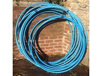 25mm Blue MDPE Water Pipe. 5 Lengths. 13m, 13m, 8m, 4m & 3.5m