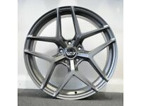 """20"""" AVA HSF-013 Alloy wheels (Gunmetal) and Tyres. Suit BMW 3 Series (F30) 5 Series F10 (5x120)"""