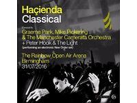 2 x tickets for Hacienda Classical, The Rainbow Arena, Birmingham