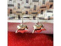 Silver Winged-Heart Earrings