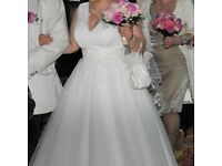 UNIQUE WEDDING DRESS, IVORY WITH PEARLS