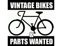 Vintage old bikes bicycles parts spares wanted cash paid I will collect