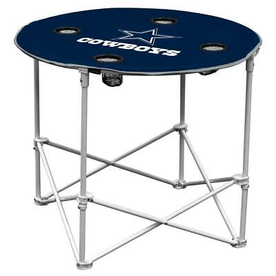 Dallas Cowboys Round Tailgate Table [NEW] NFL Portable Chair Fold Party Dallas Cowboys Tailgate Table