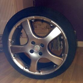 """Set of 18"""" alloys with good tyres for sale £155 ONO"""