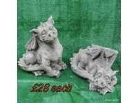 Gargoyle , dragon stone garden ornaments