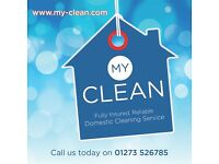 Fully Insured, Reliable, Domestic Cleaning Service