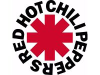 2 X RED HOT CHILLI PEPPERS TICKETS SEATED (seated together) LONDON 02 ARENA TUESDAY 6TH DECEMBER