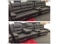 ** NEW LEATHER RECLINER SOFA SALE FREE DELIVERY**