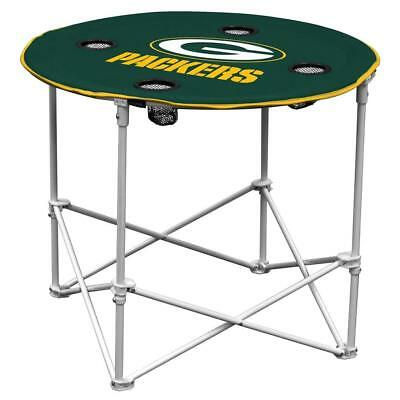 Green Bay Packers Round Tailgate Table [NEW] NFL Portable Chair Fold Party - Packers Tailgate Party