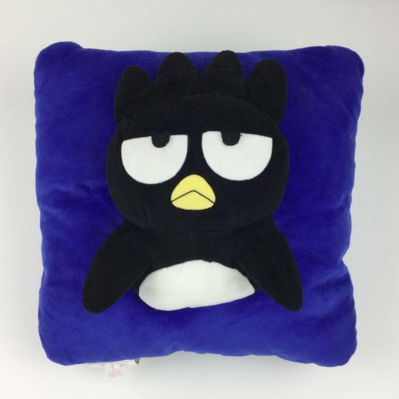 "Badtz Maru 3D Plush Throw Pillow 14"" x 14"" Sanrio"