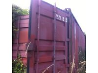 Shipping container for storage in Aberford