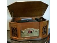 Retro record/cd/radio player