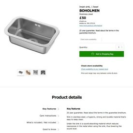 Stainless Steel Inset Sink (IKEA) + Trap set (Brand new in wrapping)