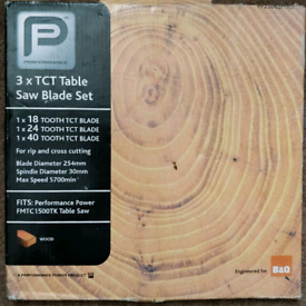 Brand new set of 3 TCT 10inch Circular Saw Blades never been used