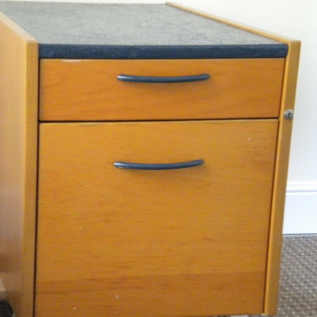 Storage Cabinet Solid Wood Ikea With A Shallow Deep Drawer On Castors