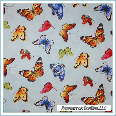 BonEful Fabric FQ Cotton Quilt Blue Pink B&W Orange Yellow Rainbow Butterfly USA (Small Pink Sweets)