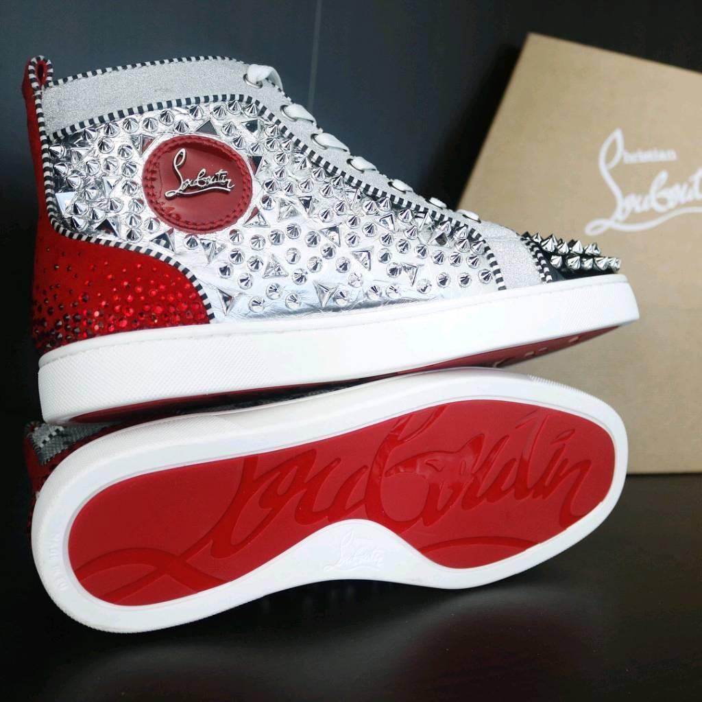 494d902ba00 Christian Louboutin F18 Creatibe fabric sneakers UK 9