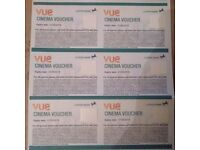 6 Vue Cinema Tickets valid until 1st May 2018