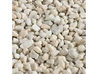 White Decorative Garden Stones