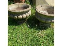 Garden planters concrete