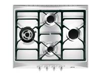 Smeg SR264XGH Cucina Built In 60cm 4 Burners Gas Hob Stainless Steel