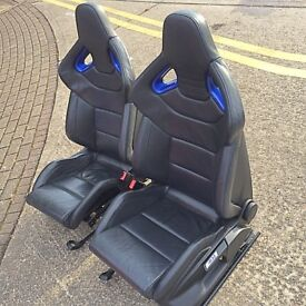 AUDI VW RECARO WINGBACK BUCKET SEATS *RS4,RS6,R32,* WILL FIT ALL AUDI AND VW