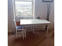 Beautiful White-Painted Extending Dining Table