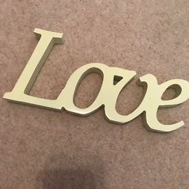 "❤️Cream ""LOVE"" sign ornament decor living room bedroom ❤️"