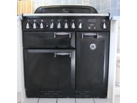 Rangemaster Elan 90 - Black, All Electric - Two Ovens, Separate Grill, Induction Hob - 6 Years old