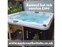 Hot tub annual service Norfolk, Suffolk, Essex, Cambridgeshire