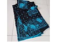 Black midnight saree