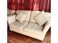 Beautiful gold/cream Duresta two-seater sofa
