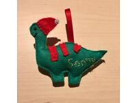 Dinosaur handmade Felt Christmas tree decoration