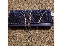 BNWT navy clutch bag