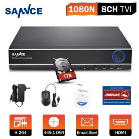 SANNCE 8CH 960H Network CCTV DVR for 900TVL Camera Kit Motion Detect&Instant 1TB